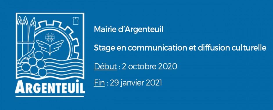 Stage en communication culturelle à Argenteuil