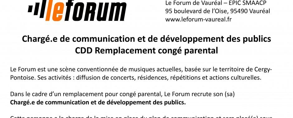 Le Forum recrute !
