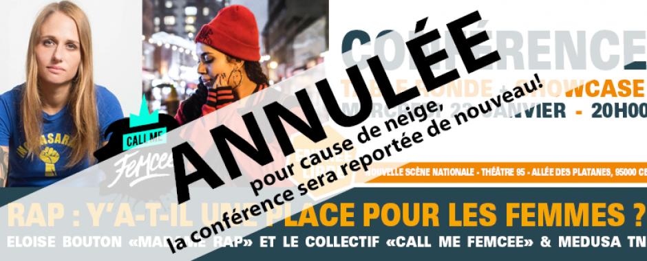 Conférence : Rap y'a-t-il une place pour les femmes + showcase