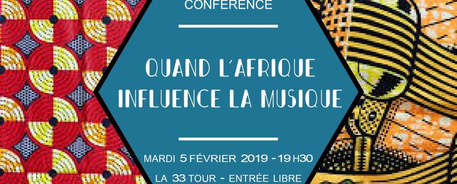 Conférence : quand l'Afrique influence la musique