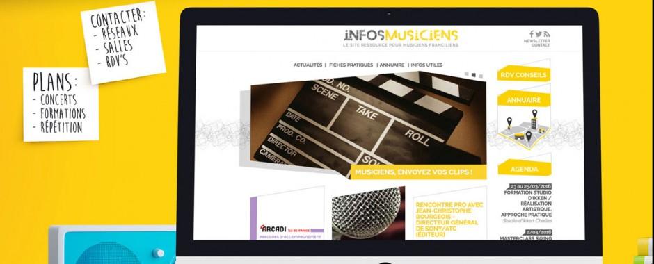 Lancement du site InfosMusiciens