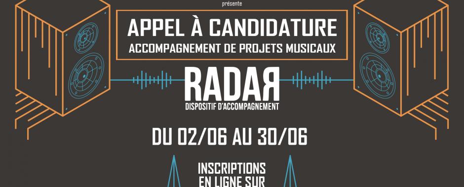 Les candidatures pour Radar sont ouvertes !