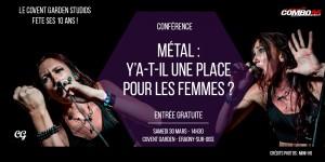 Conférence - Métal : Y'a-t-il une place pour les femmes ?