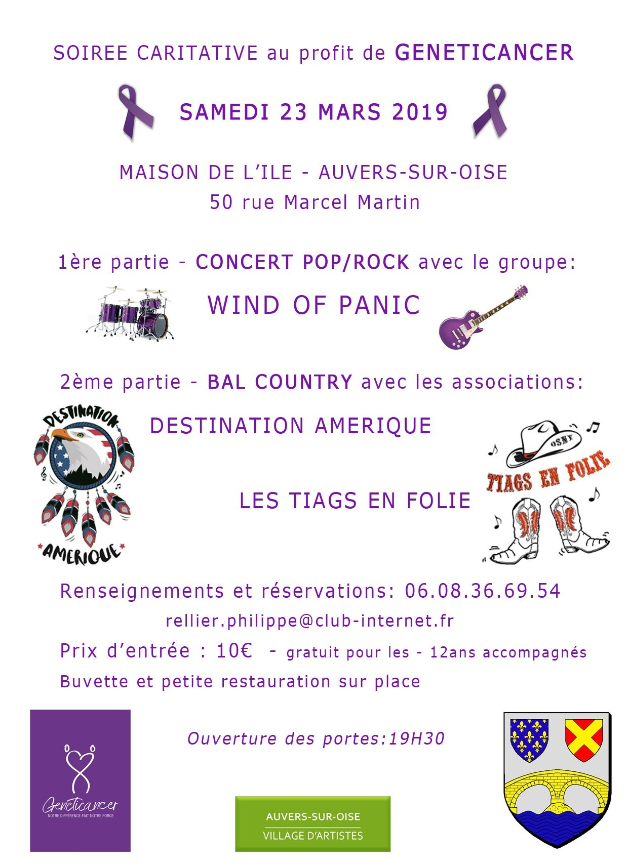 Soirée caritative: Concert POP /ROCK + bal country