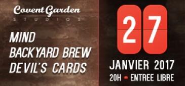 MIND + BACKYARD BREW + DEVIL'S CARDS
